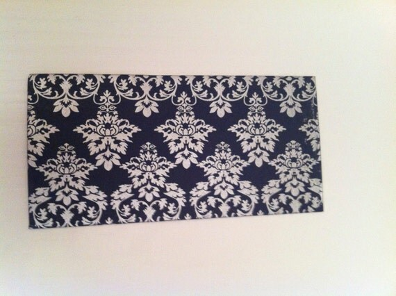 Items Similar To 5 Navy Blue And Silver Damask Envelopes