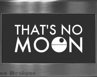 "Star Wars inspired ""That's No Moon"", Death Star vinyl decal - Car decal - Macbook decal - Death Star decal - Star Wars decal"