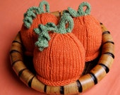 Newborn TRIPLETS  Baby Pumpkin Hats Perfect for Photography Props