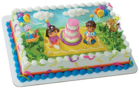 Dora and Diego cake topper birthday celebration