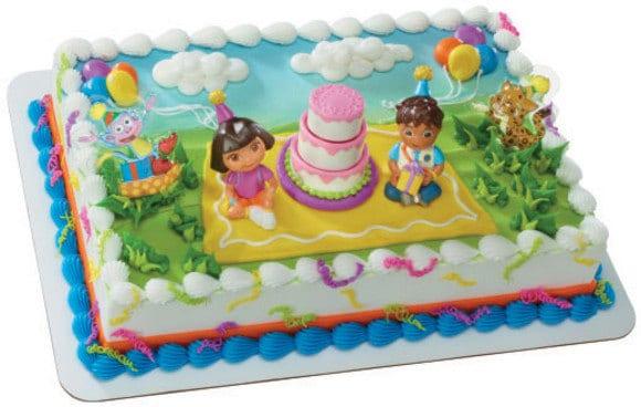 Dora and Diego cake topper birthday celebration