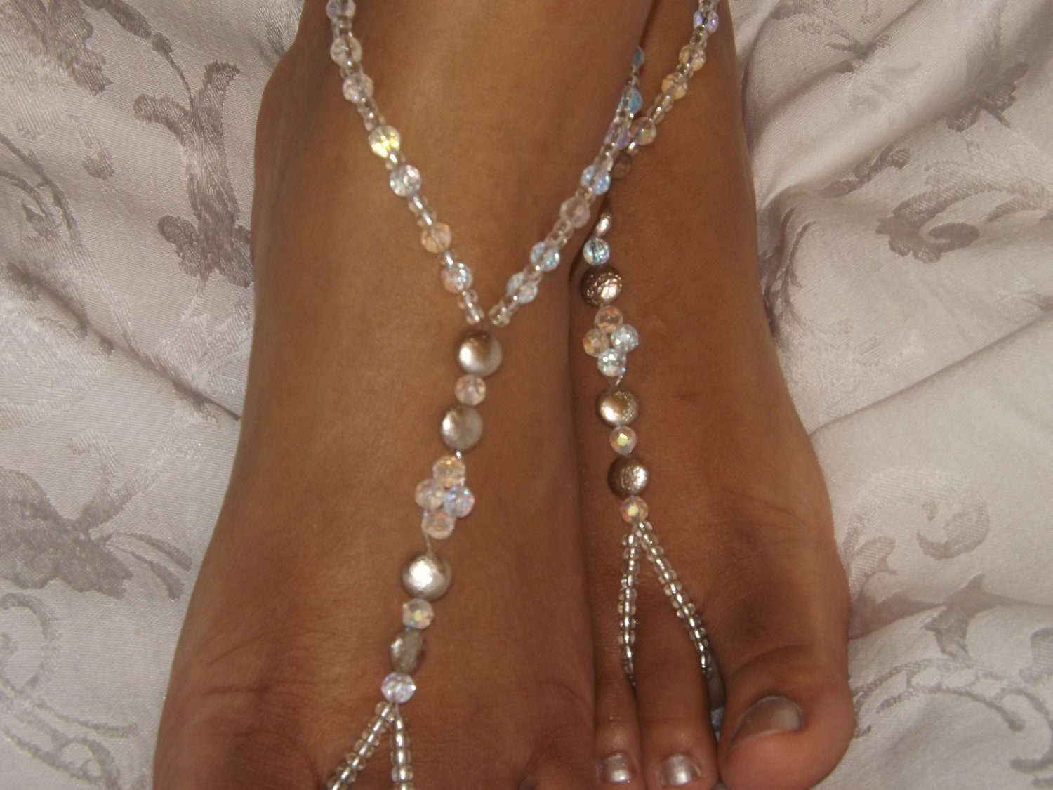 Bridal Jewelry Barefoot Sandals Wedding Foot by ...