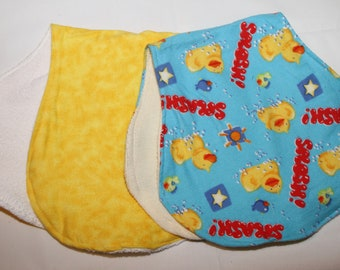Two-Duck Burp Cloths