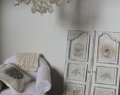 dollhouse shabby chic double door closet