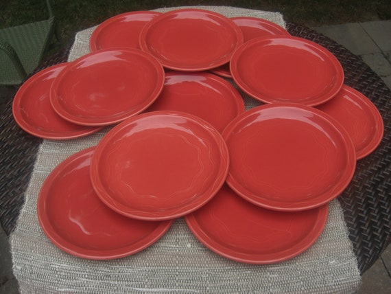 Syracuse China Cantina Cayenne Dinner Plates Restaurant Ware-Set of 5