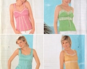 UNCUT Misses Summer Tops Sewing Pattern Simplicity 4534  Sizes 12 14 16 18 20 Bust 34 - 42