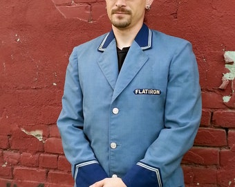 Vintage Flatiron Doorman Valet Jacket & Cap Blue Uniform