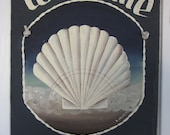 Handpainted Personalized Scallop Seashell  Nautical Slate Welcome Sign