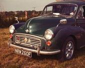 "Vintage Car Photography - Morris Minor Van, Limited Edition, Morris Minor Car, Fine Art Photography 8"" X 8"""