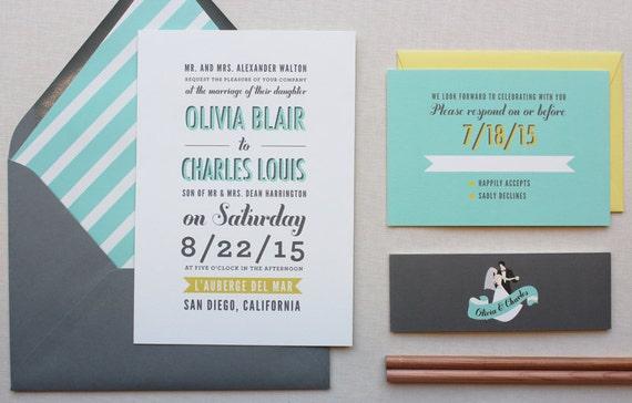 Modern Wording For Wedding Invitations: Wedding Invitations Modern Wedding Invitation Unique