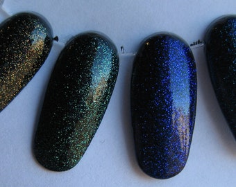 Din Farore Nayru Companion Fairy Color Shifting Sparkle Glitter Top Coat Set Effect Nail Lacquer Indie 15mL Starlight and Sparkles Polish