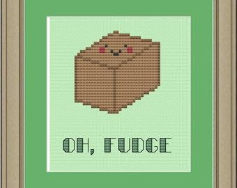 Oh, fudge: cross-stitch pattern