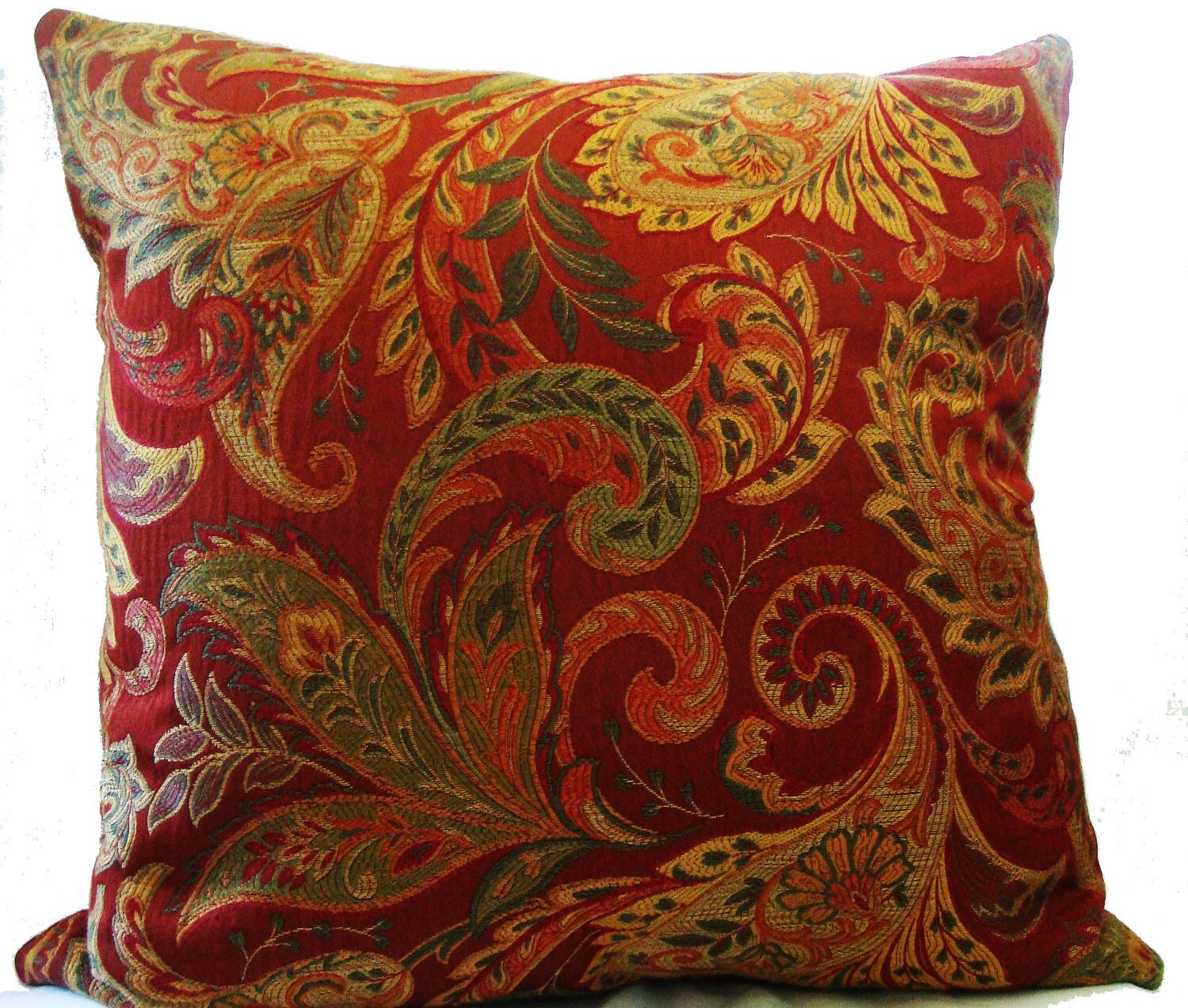 beautiful woven jacquard paisley throw pillow20x20 decorative. Black Bedroom Furniture Sets. Home Design Ideas