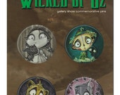 John coulter's Wicked of Oz collectable pins