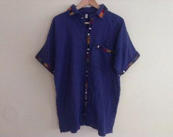80s large ethnic shirt eighties