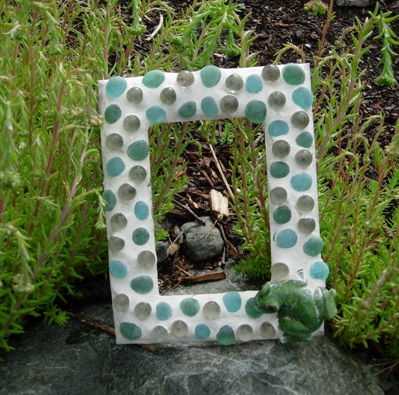 Ships Free Green Frog and Bubbles Mosaic Frame