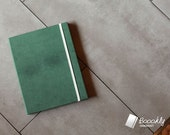 iPad3 Case : Boookly 'Soft Leather Green' - Maple wood & Green leather book style case