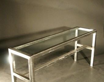 Modern Brushed Steel Table