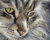 """Painting and print: Commission a Custom Aceo Portrait and 5X7"""" Print - FREE UK POSTAGE!"""