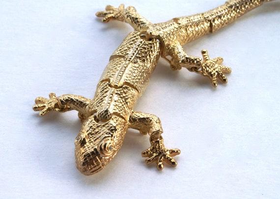 Lizard Brooch Articulated Pin