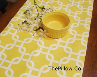 "Yellow Table Runner - Wedding - 13"" X 84"" Table Cloth - Decorative  Tablerunner   ""Gotcha Twill """