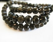 Smoky Quartz Beads, Rondelles, AAA, 5.5-7.5mm, 8 inches