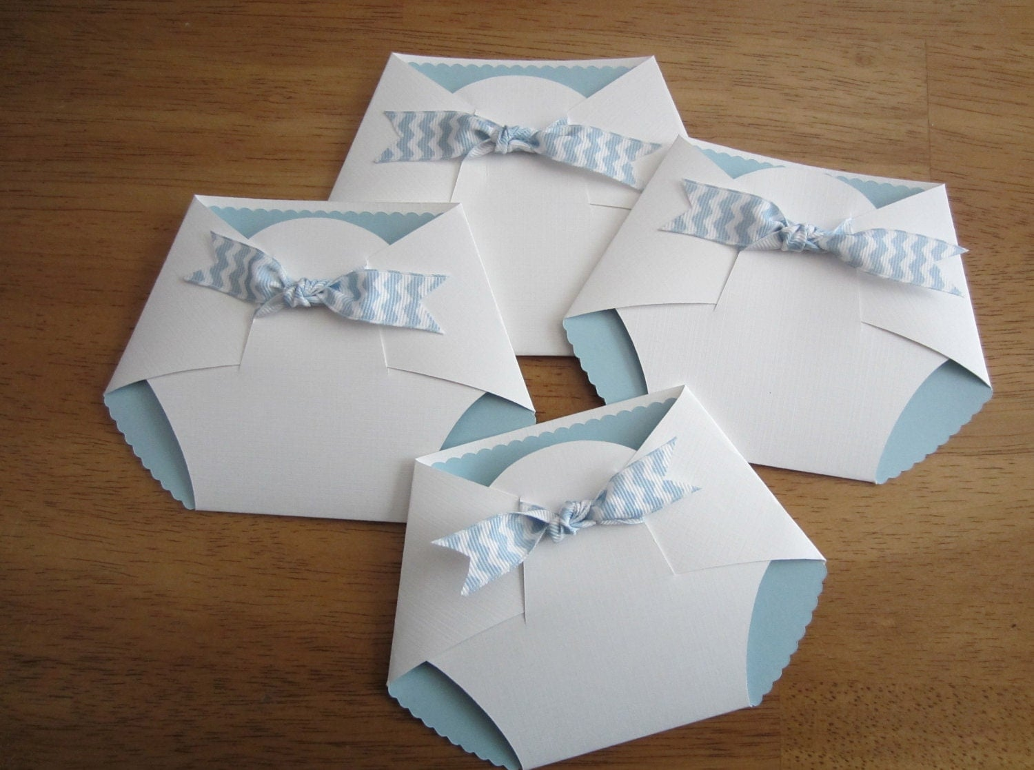 Diy Baby Shower Diaper Invitations Handmade Baby S...