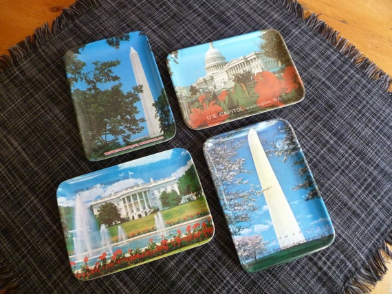 Vintage Washington D.C. Small Souvenir Trays
