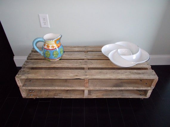 ON SALE All Pallet Coffee Tables - Conoco Phillips Pallet Coffee Table - Unstained
