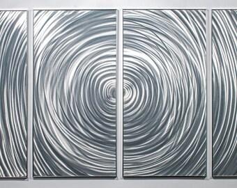 Modern Abstract Painting Metal Wall Art Sculpture Ripple