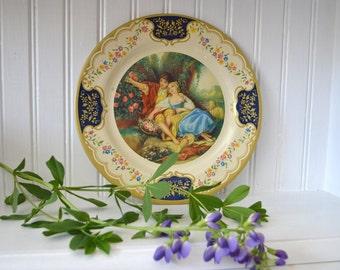 Baret Ware Tin Tray | Tin Platter | Vintage Plate | Serving Tray | Romantic | The Idyll