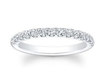 Ladies Platinum diamond wedding band 0.35 ctw G-VS2 diamond quality