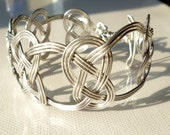 Bracelet Hand formed Celtic Knot Wire Wrapped Aluminium Wire