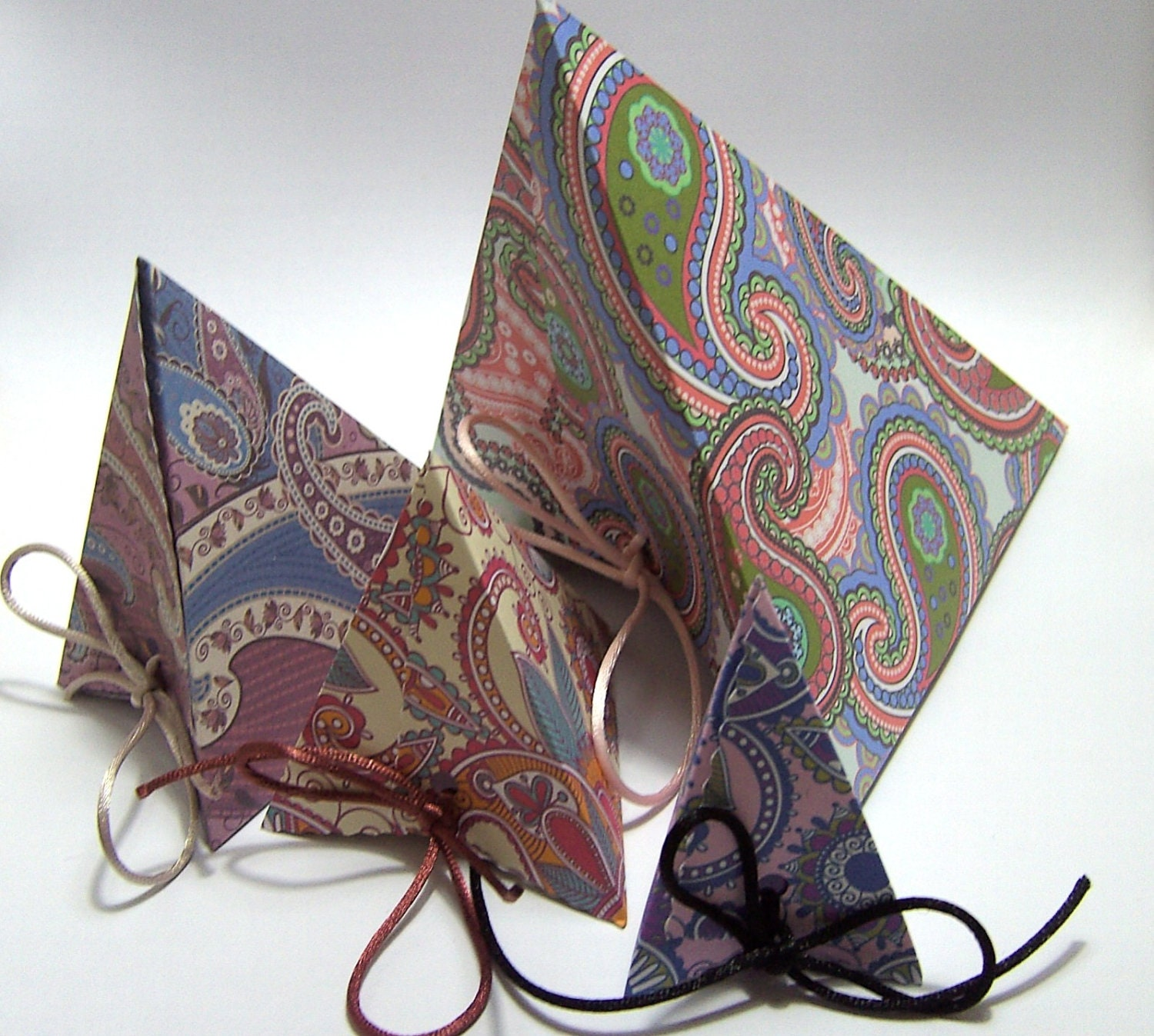 Gift box pack handmade boxes paisley patterned