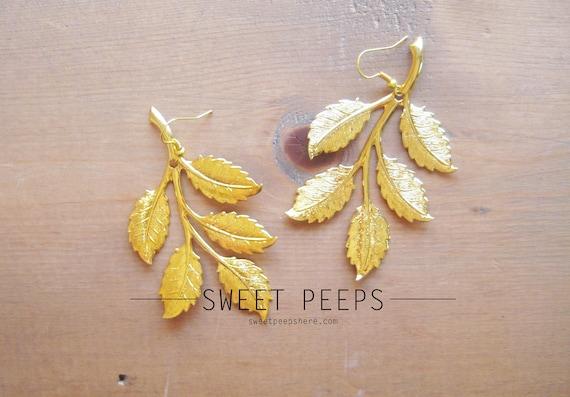 Gold Leave Earrings