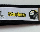 Steelers Key Fob Wristlet Keychains - Variety of color combinations