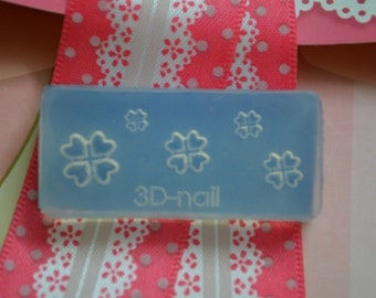3D Flexible Silicon Love Valentines Mold for Acrylic and Gel Nail Arts
