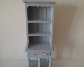 Dolls house dresser hutch in choice of colourer hand painted miniature furniture 112th scale wooden hutch dollhouse furniture
