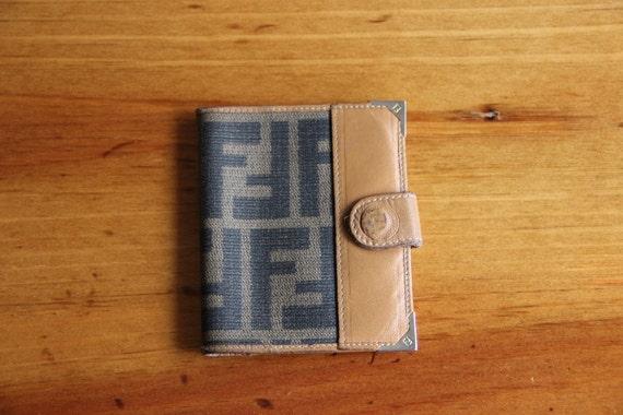 Vintage Designer Fendi Wallet Coin Purse Credit Card Holder