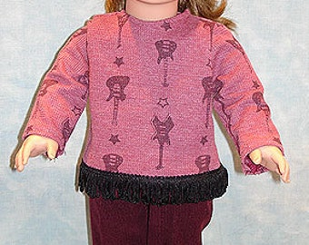 18 Inch Doll Clothes - Funky Guitars Pants Set made to fit 18 inch dolls