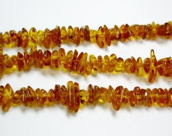 Cognac Baltic Amber approx 5-7mm 15-16 inch D458