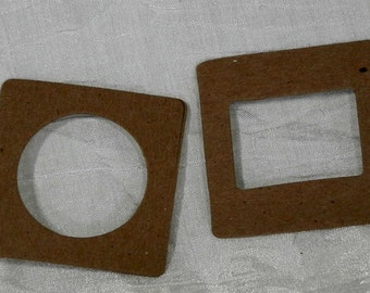Slide Mounts Die Cut Chipboard - 10 pieces