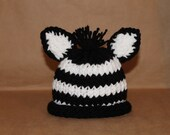 Zebra hat (EDS awareness) Newborn -Small infant size