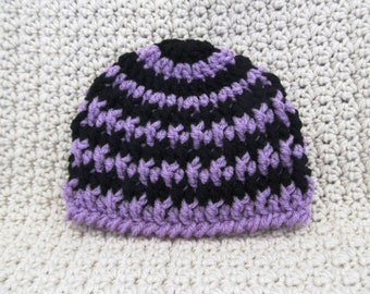 Striped Deeply Textured Newborn Hat Ready To Ship