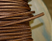 6 Feet: Brown 2-Wire Cloth Covered Cord, Vintage Style Cloth Electrical Cord, For Floor Lamps, Desk Fans, Radio rewiring etc