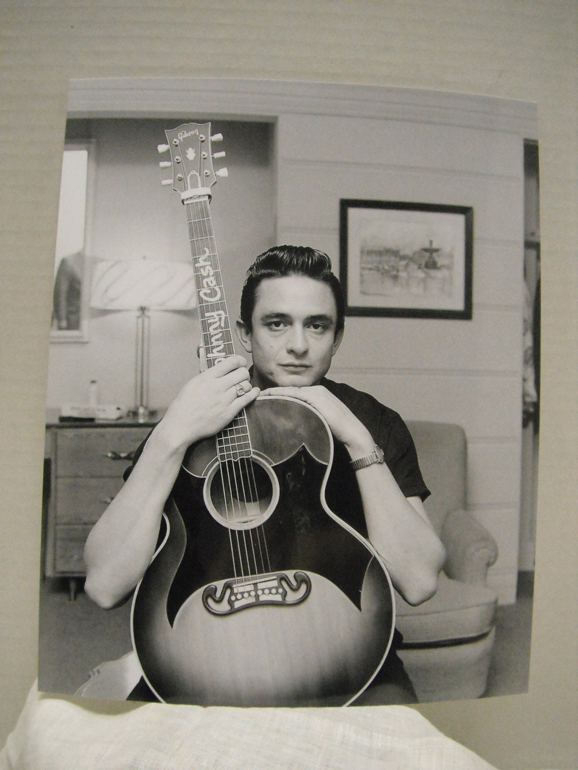 A Very Young Johnny Cash In A 1950 S Photo Reprint By