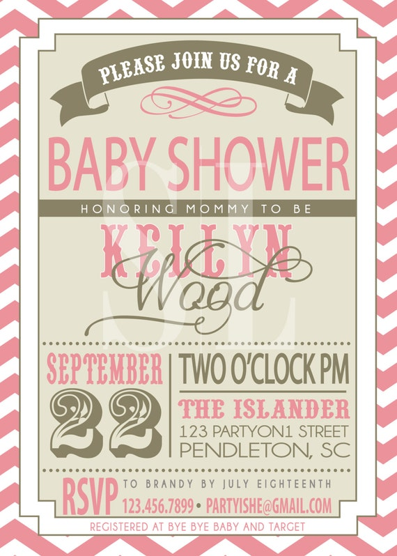 items similar to baby shower invitation on etsy