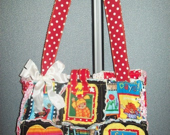 School Teacher Rag Quilt Purse