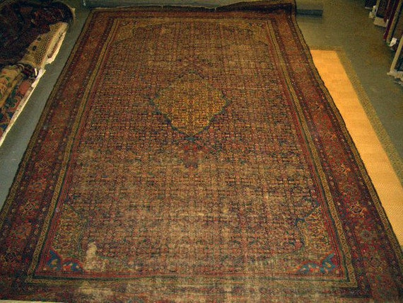 1920s Hand-Knotted Mahal-Sarouk Persian Rug for Design Projects