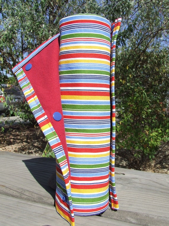 "Bright Stripes Eco-Friendly ""Un-paper"" Towel Roll - 8 towels"